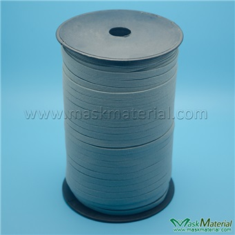 Picture of 7mm Gray Flat Elastic Band/Elastic Cord