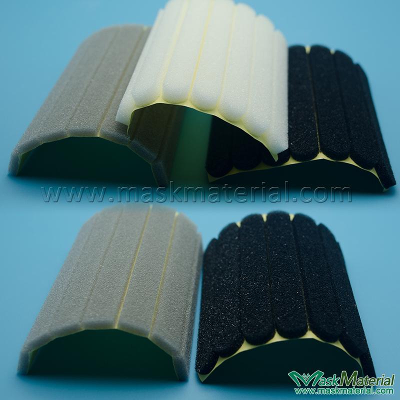 Adhesive Nose Foam/Sponge, White, Gray, Black-MaskMaterial