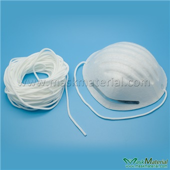 Picture of White Round Elastic Tape For Respirator