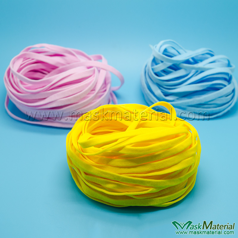 Flat Elastic Band For Ear Loops In Various Colors Maskmaterial
