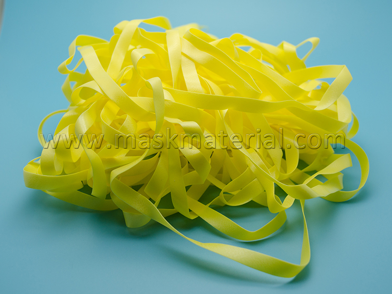 yellow elastic headband, rubber band